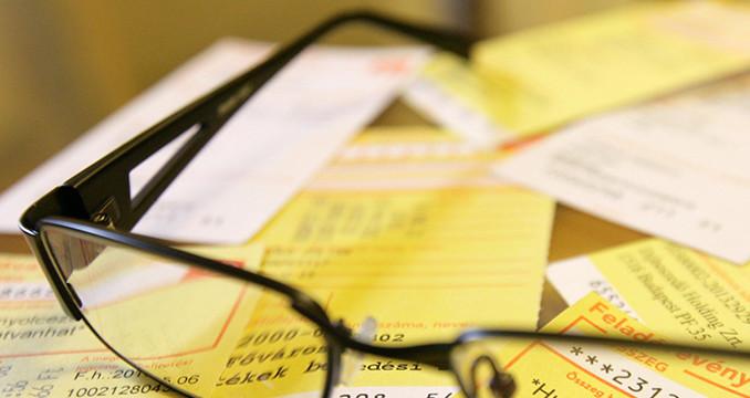 sárga csekk szolgáltató díjbeszedő számla