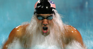 Michael Phelps wins in the men's swimming 200m individual medley
