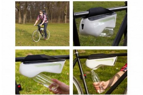 ivóvíz levegőből biciklivel