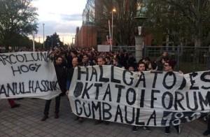 diák tüntetés