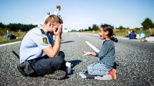 dán rendőr-menekült kislány