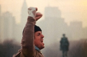 This is a scene from the motion picture Rocky with Sylvester Stallone filmed on the steps of the art museum in Philadelphia --- DATE TAKEN: rcd 12/99     Photofest ORG XMIT: PX11193