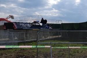 szlovák rendőrség+kerítés