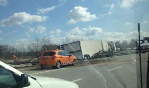 M3-as kamionos baleset