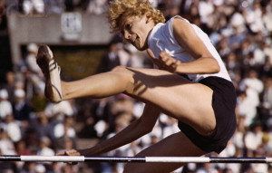 15 Oct 1964, Tokyo, Japan --- 10/15/1964- Tokyo, Japan: Yolanda Balas of Romania winning the Olympic high jump. --- Image by © Bettmann/CORBIS