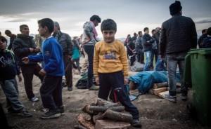 menekült gyerekek idomeni