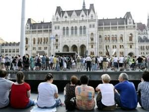 Kossuth téri tüntetés-MTI