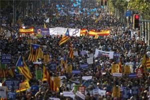 barcelona tüntetés
