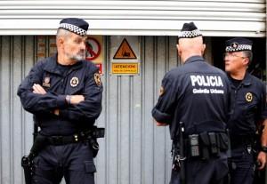 katalán rendőrök