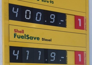 gázolaj ára