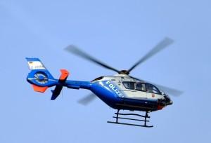 német rendőrségi helikopter