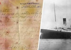 titanic levél