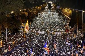 brcelona tüntetés