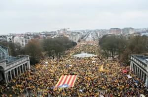 brüsszel tüntetés