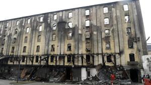 leégett épület